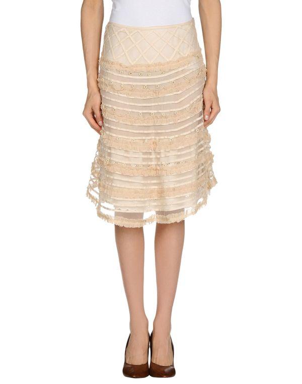 米色 BLUMARINE 及膝半裙