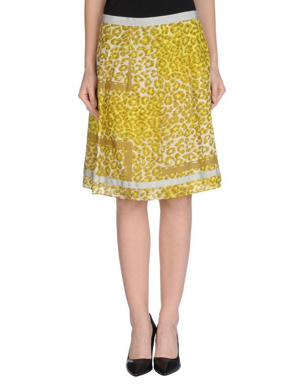 黄色 SACAI 及膝半裙