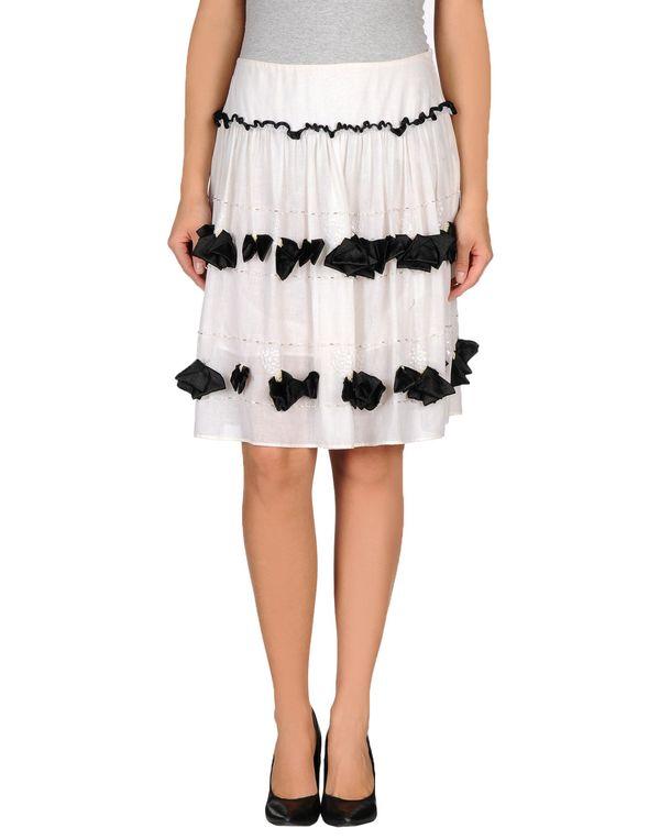 白色 ANNA MOLINARI 及膝半裙
