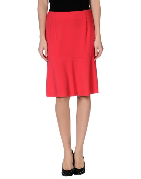 红色 LES COPAINS 及膝半裙