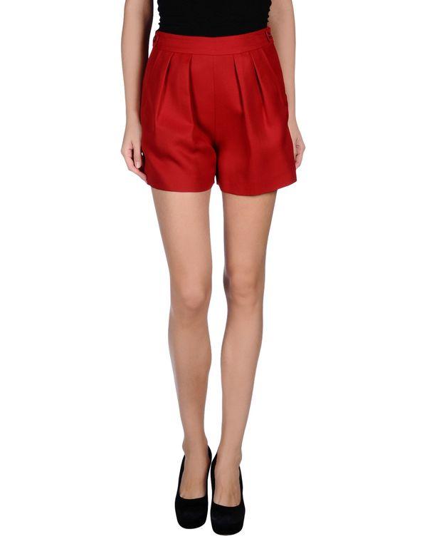 红色 GIAMBATTISTA VALLI 短裤