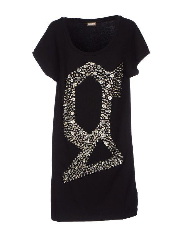 黑色 GALLIANO T-shirt