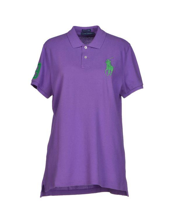 紫色 RALPH LAUREN Polo衫