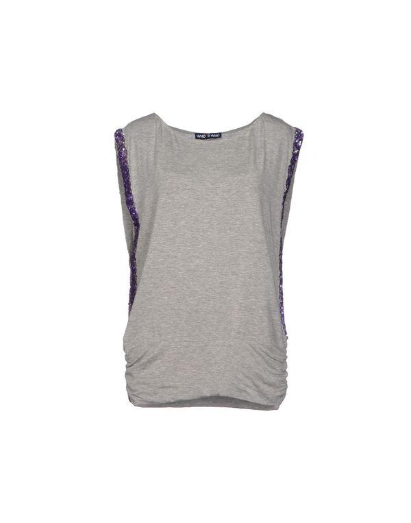 淡灰色 WHO*S WHO T-shirt
