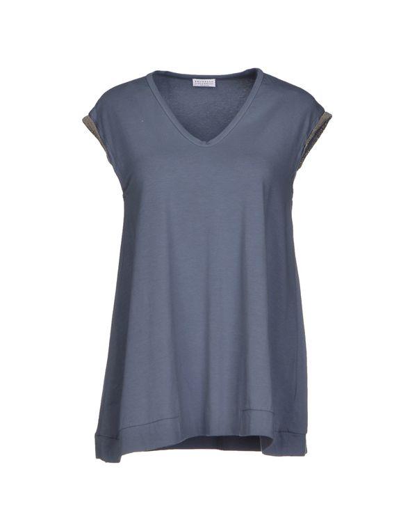 石青色 BRUNELLO CUCINELLI T-shirt
