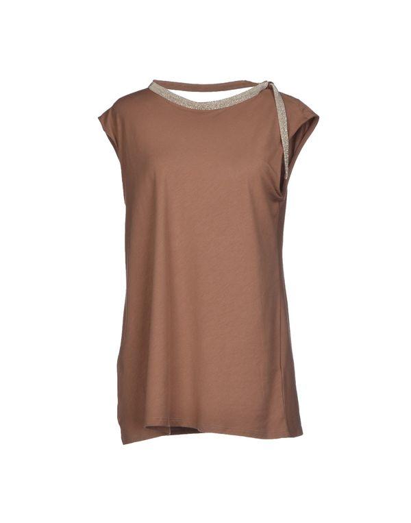 巧克力色 BRUNELLO CUCINELLI T-shirt