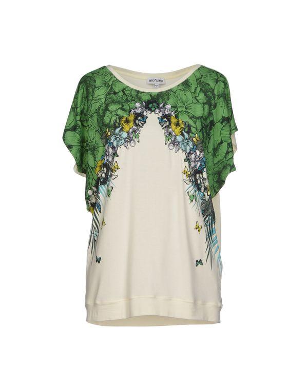 绿色 WHO*S WHO T-shirt