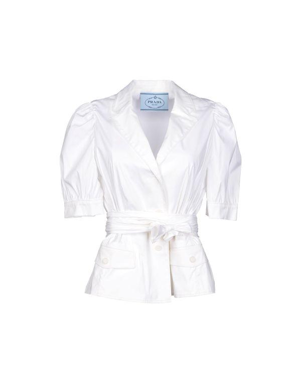 白色 PRADA 西装上衣