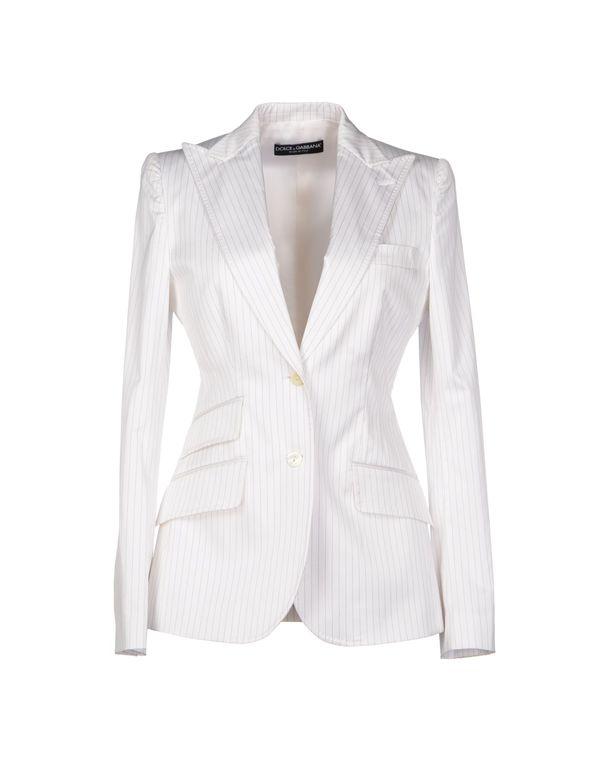 白色 DOLCE & GABBANA 西装上衣