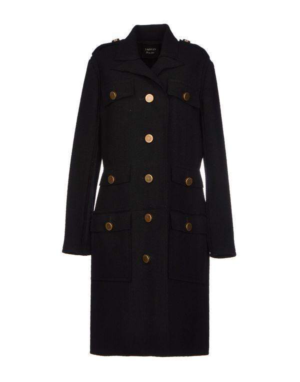 黑色 LANVIN 大衣