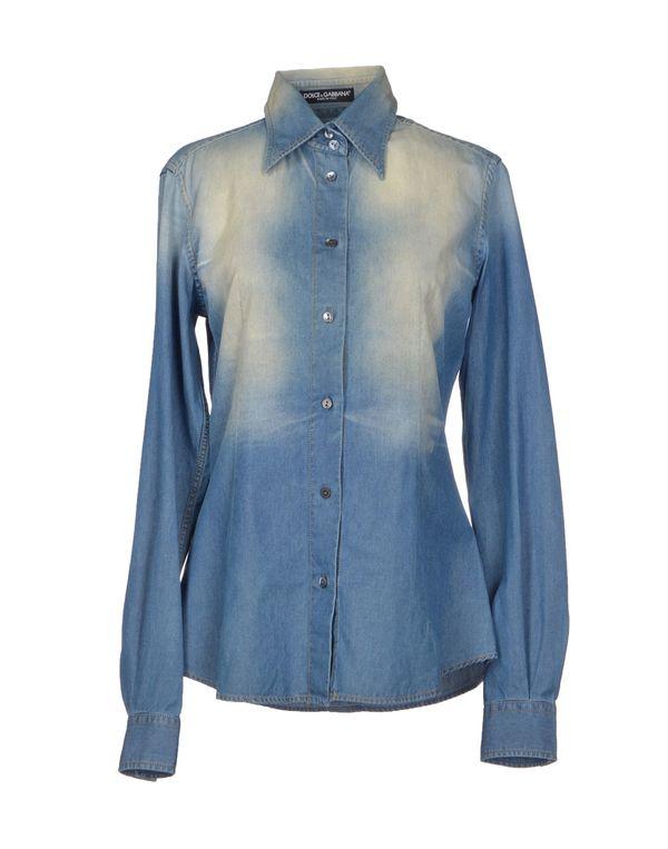 蓝色 DOLCE & GABBANA 牛仔衬衫