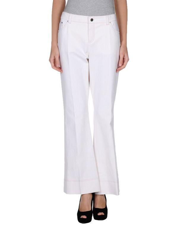 白色 PAULE KA 牛仔裤