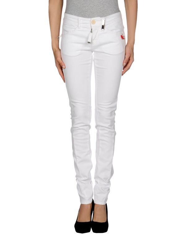 白色 HIGH 牛仔裤