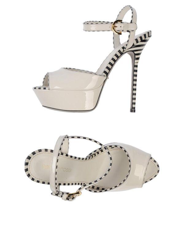 白色 SERGIO ROSSI 凉鞋
