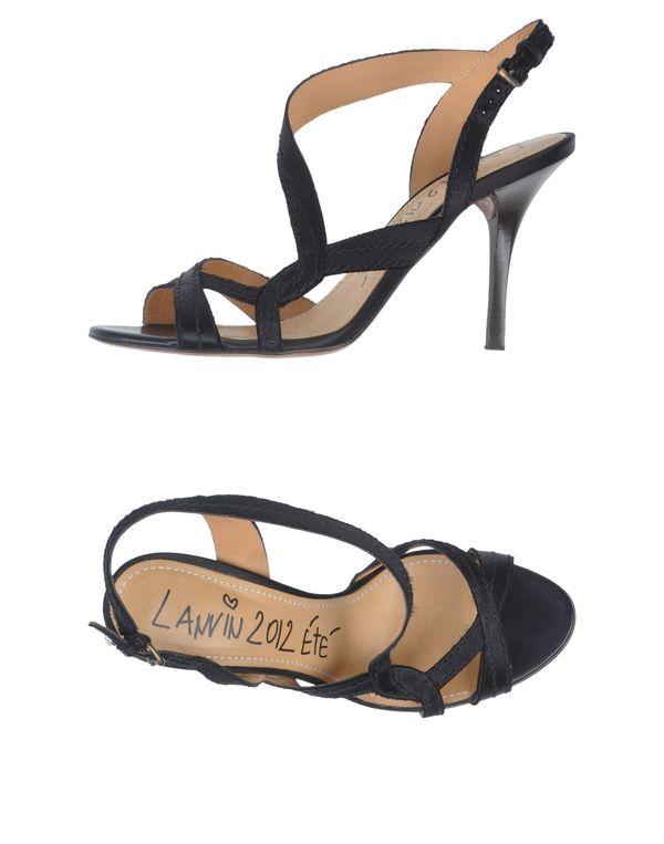黑色 LANVIN 凉鞋