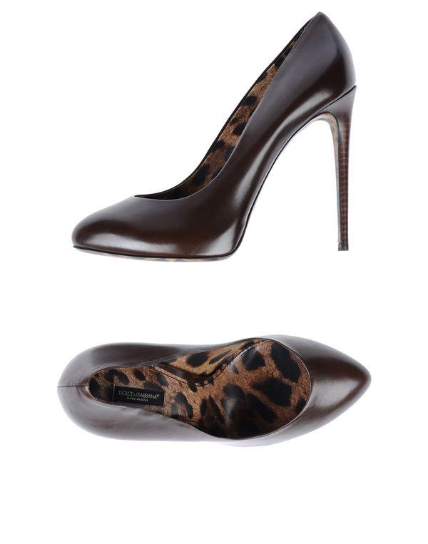 巧克力色 DOLCE & GABBANA 高跟鞋