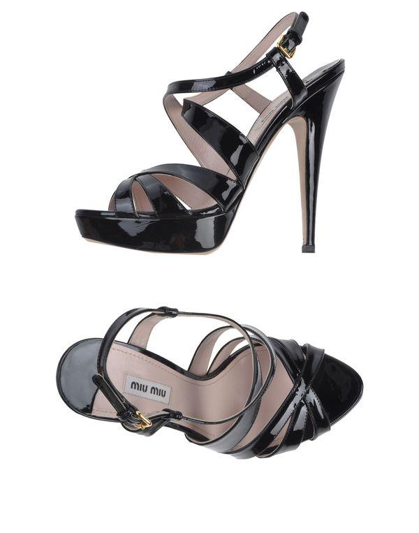 黑色 MIU MIU 凉鞋