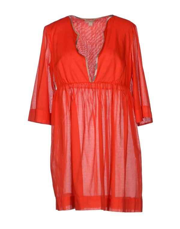 红色 BURBERRY BRIT 短款连衣裙