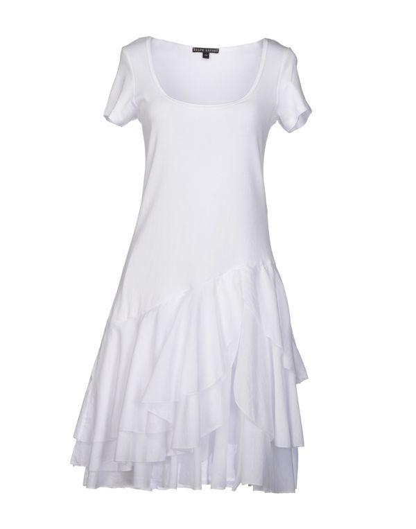 白色 RALPH LAUREN BLACK LABEL 及膝连衣裙