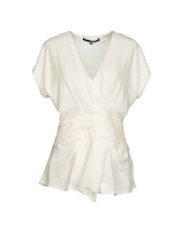 白色 ELISABETTA FRANCHI 24 ORE 女士衬衫
