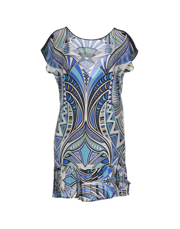 蓝绿色 PINKO BLACK 短款连衣裙