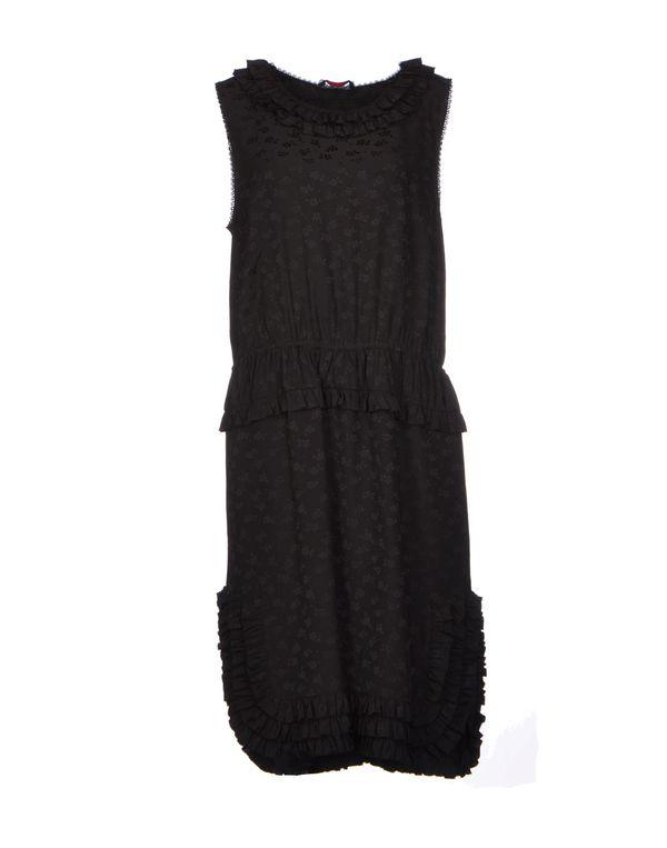 黑色 ROCHAS 及膝连衣裙