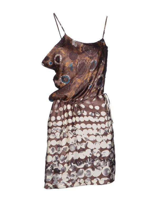棕色 MANILA GRACE 及膝连衣裙