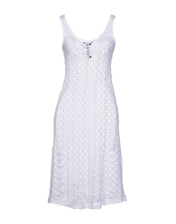 白色 AQUASCUTUM 及膝连衣裙