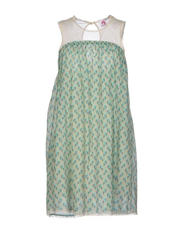 浅绿色 SCEE BY TWIN-SET 短款连衣裙