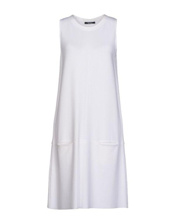 白色 NEERA 及膝连衣裙