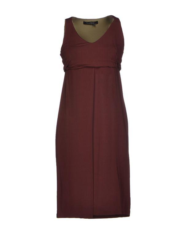 巧克力色 MANILA GRACE 短款连衣裙
