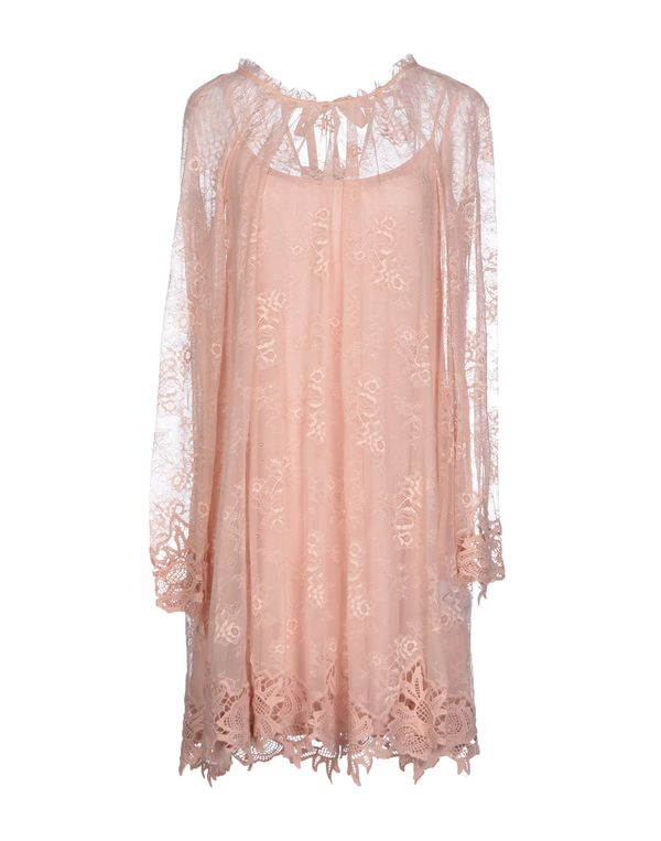 粉红色 SCEE BY TWIN-SET 短款连衣裙