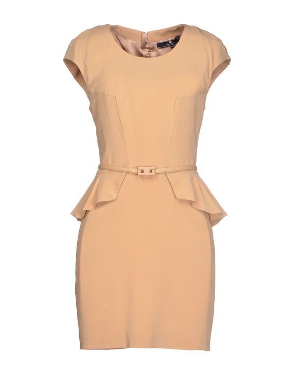 沙色 ELISABETTA FRANCHI 24 ORE 短款连衣裙