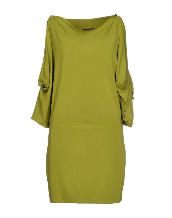 军绿色 PLEIN SUD 短款连衣裙
