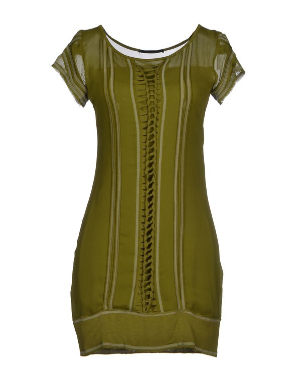 军绿色 PLEIN SUD JEANIUS 短款连衣裙