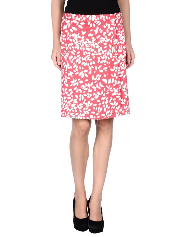 红色 ARMANI COLLEZIONI 及膝半裙