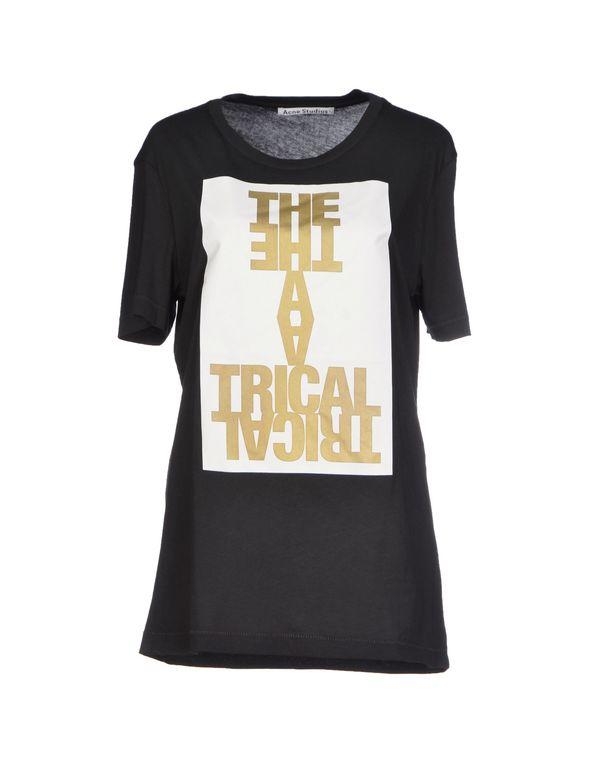黑色 ACNE STUDIOS T-shirt