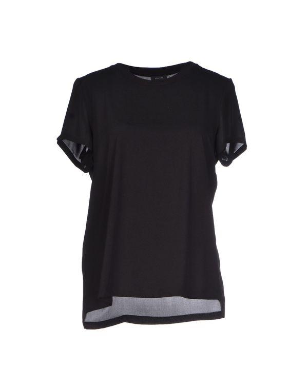 黑色 THEORY T-shirt