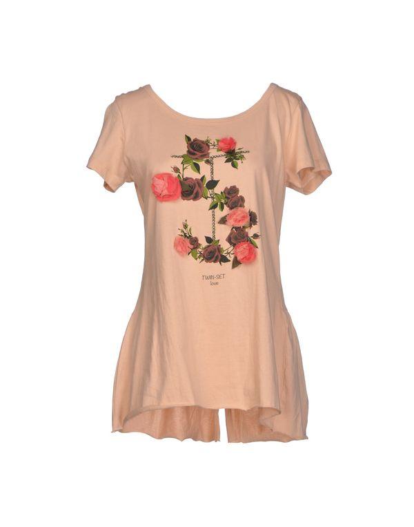 裸色 TWIN-SET SIMONA BARBIERI T-shirt