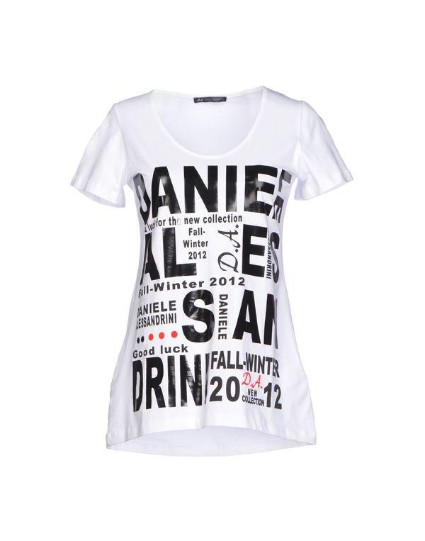 白色 D.A. DANIELE ALESSANDRINI T-shirt