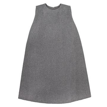 cos 灰色圆领a字裙,a型大身造型搭配简洁大气的造型,干净利索的剪裁图片