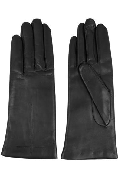 黑色皮革短款手套