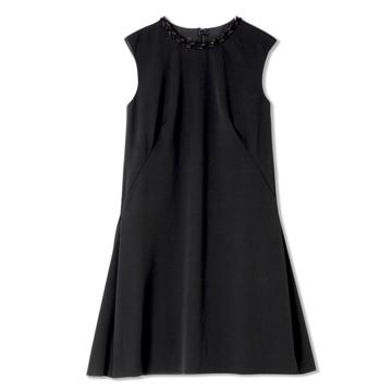 GIADA迦达黑色无袖连衣裙