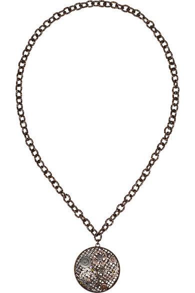氧化纯银、镀玫瑰金纯银吊坠项链