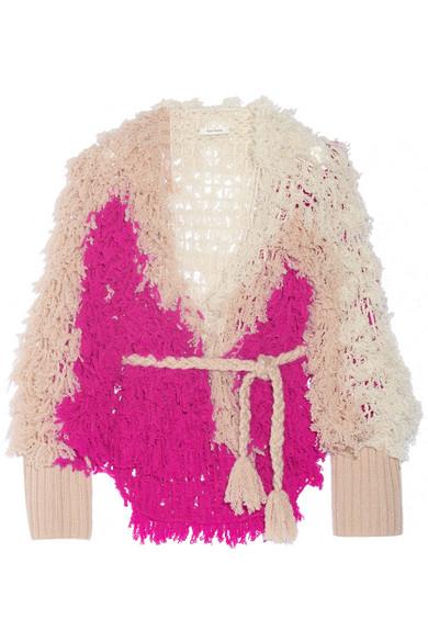 + Ryan Roche 镂空针织羊绒开襟衫