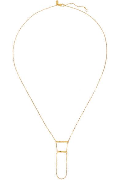 Double Klaxon 镀金项链