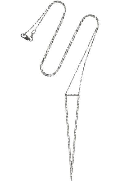 氧化 18K 白金钻石项链