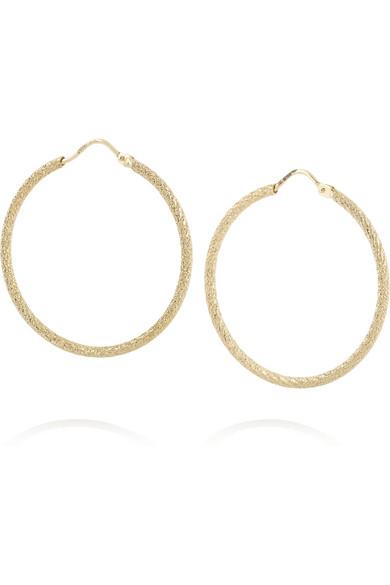 18K 黄金圆圈耳环
