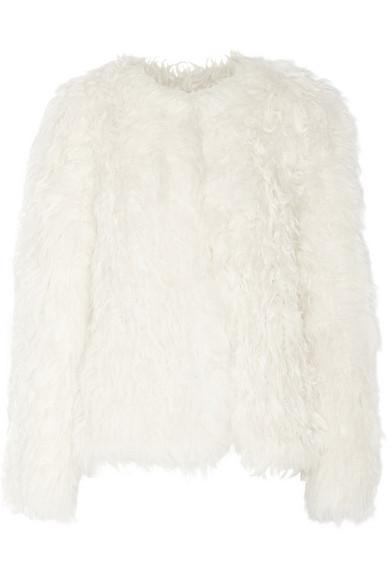 针织羊毛皮外套