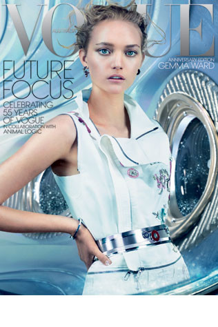 Gemma Ward复出之路继续 登上澳大利亚版《Vogue》封面